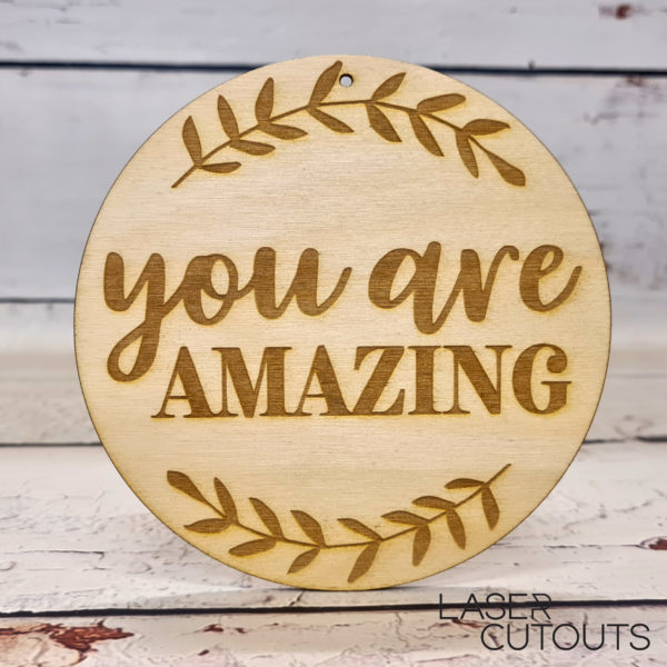 You are amazing – Plaque