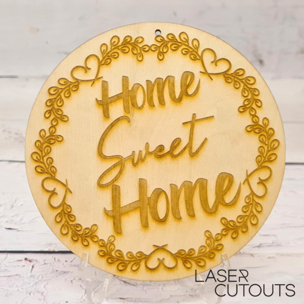 Home sweet home – Plaque