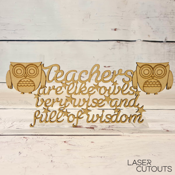 Teachers are like owls, very wise and full of wisdom