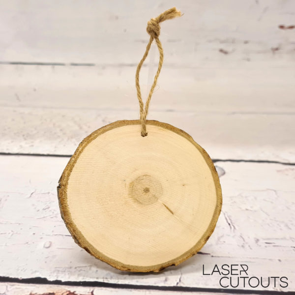 Round log slice with jute – 11-14cm