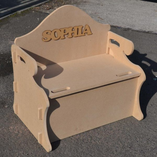 Toy box/Childrens seat – includes free name