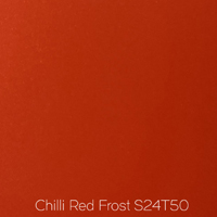 frosted chilli red