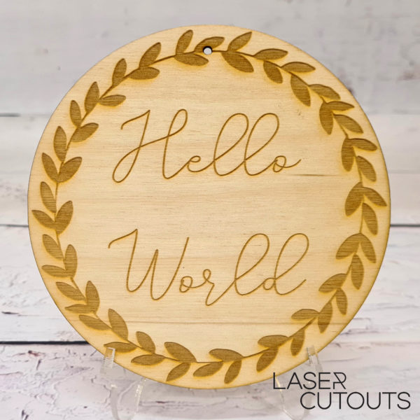 Hello World – Plaque